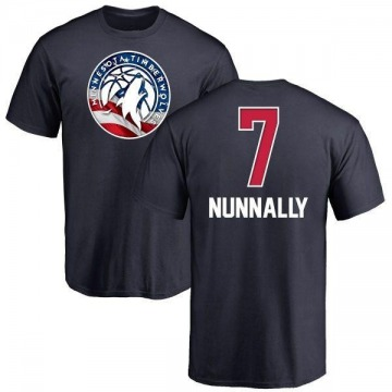 Youth James Nunnally Minnesota Timberwolves Navy Name and Number Banner Wave T-Shirt